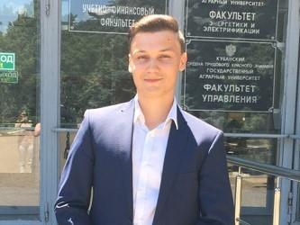 студент-энергетик Александр Лебедев