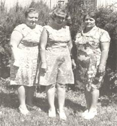 Слева направо: Слободяник М.М., Краснобаева Л.А., Константинова М.Н., 1979г.