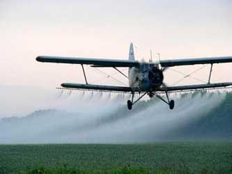 химическая обработка с самолёта