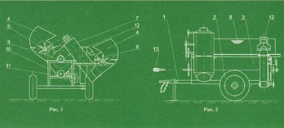 схема бахчеуборочного комбайна